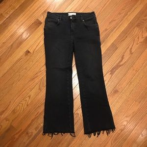 Free People Rita Crop Fit Flare Jeans